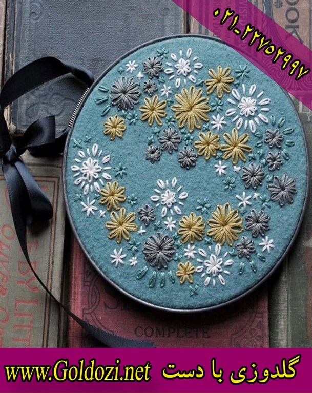 Training embroidery by hand